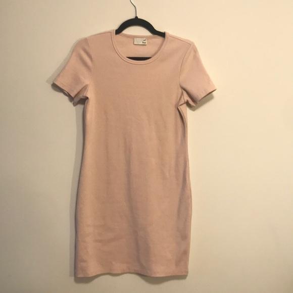 Wilfred free size medium soft pink ribbed dress